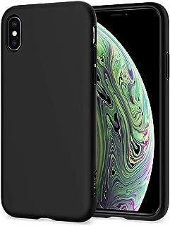 Spigen Liquid Crystal Designed for Apple iPhone Xs Case (2018) / Designed for Apple iPhone X Case (2017) - Matte Black
