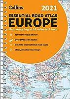 2021 Collins Essential Road Atlas Europe (Collins Road Atlas)