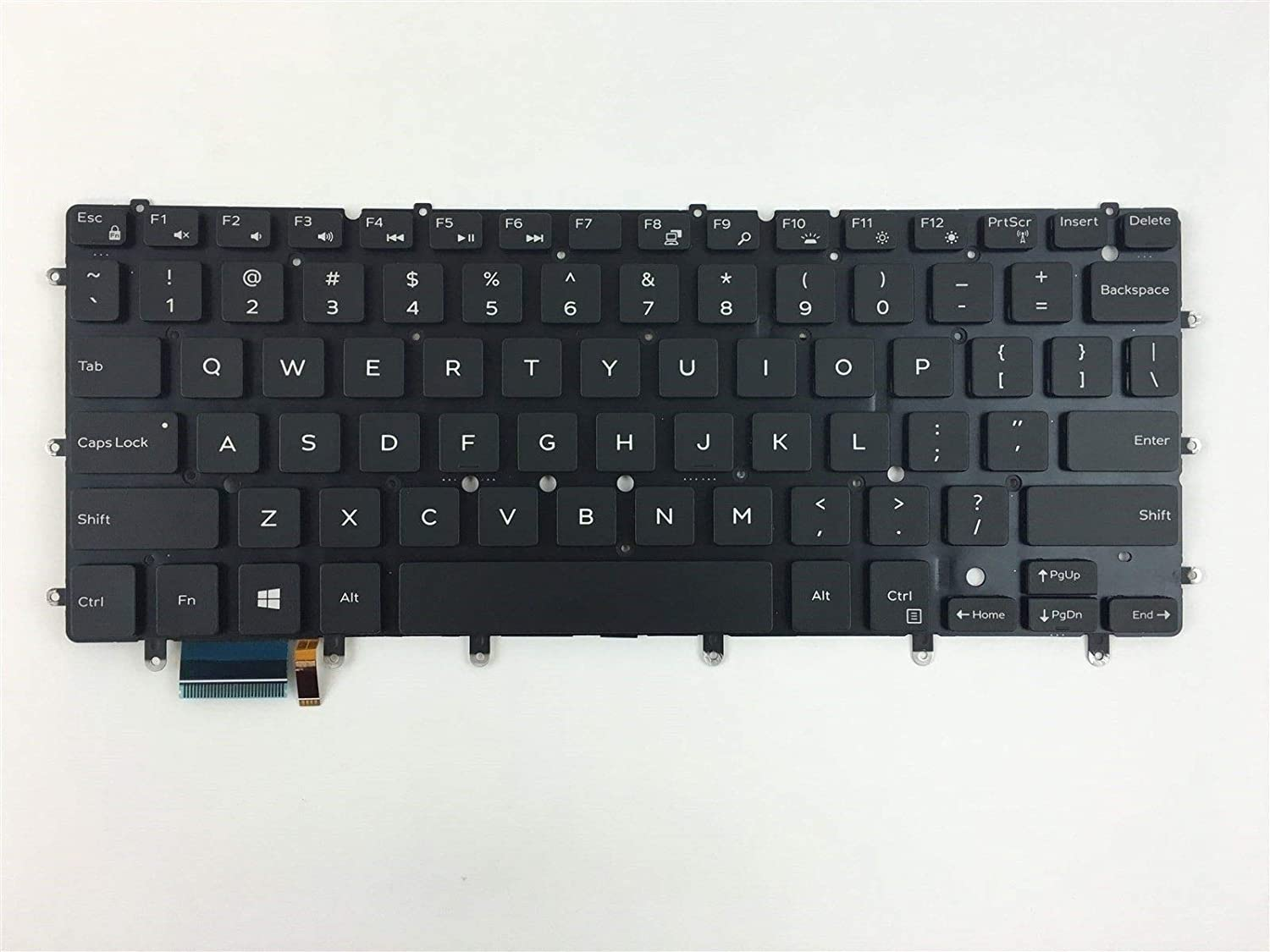 New shopping Laptop Backlit Ranking integrated 1st place Keyboard Without Dell Replacement Frame for