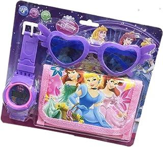 Yefashion Hello Kitty Sun Glasses+Wallet+Watch for Kid Dress-up Spider-Man Unicorn Toy Costume (Princess)