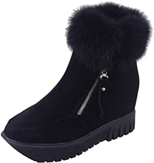 Plus Velvet Heightening Boots Wedge Platform Winter Warm Snow Shoes for Female