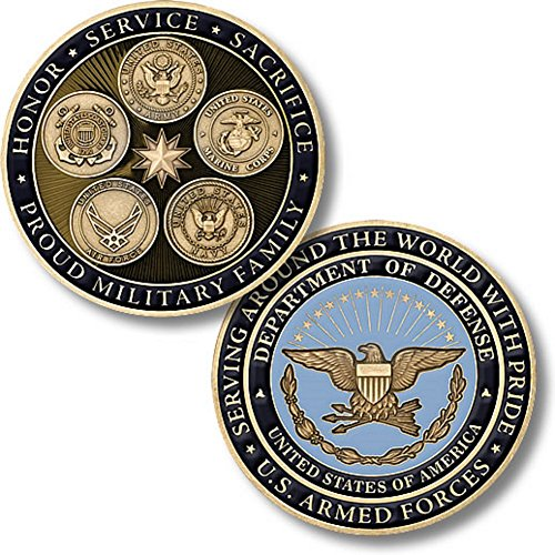 Northwest Territorial Mint DoD Proud Military Family Challenge Coin