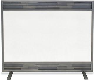 "Pilgrim Home and Hearth 18252 Lanier Single Panel Fireplace Screen, Natural Iron, 39""W x 31""H, 35 Lbs,"