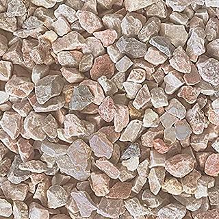 砂利 砕石 石 天然石 洋風 庭石 小石 クラッシュ ミックス ピンク 約2cm 20mm内外 約15-25mm 20kg入