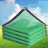 kufu01 Malla Sombreadora de Protección Solar Verde,Balcón Casa Patio Invernadero Aislamiento de Plantas Suculentas Red de Sombreado Transpirable,80%-90% Sombra,Toldo Vela con Ojal (8x8m/26x26ft)