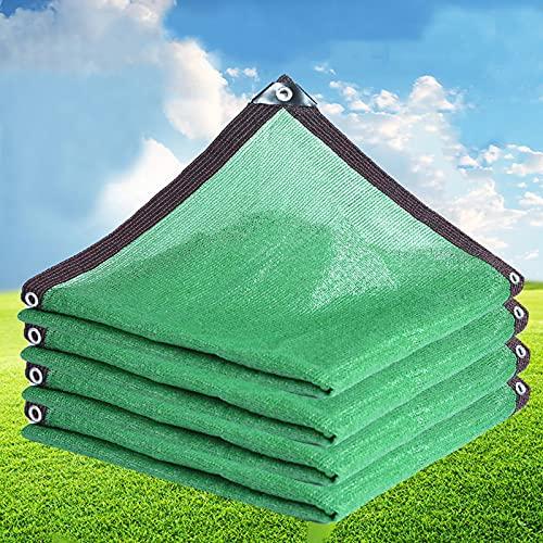 kufu01 Heavy Duty Green Schattennetz,Home Balkon Innenhof Gewächshaus Sukkulenten Isolierung Atmungsaktives Schattierungsnetz,80%-90% UV Schutz Sonnenschutz Sichtschutz...