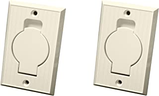 (2) Central Vacuum Wall Hose Inlet Almond Beige for BEAM - NEW