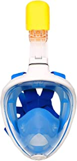 Alayna TM Snorkel Mask for Snorkeling, Full Face Coverage, Comfortable Gear for Divers Free Breathing (Blue, S/M)