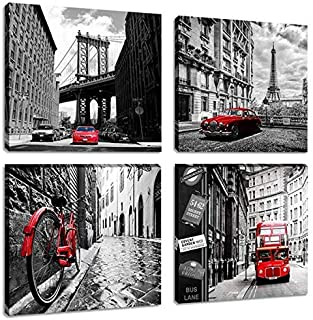 london canvas black and white