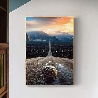 LTXMZ Affiches De Motivation De Style Nordique sur Toile Tableau Inspirante sur Le Murale Mentalité Avancer des Images d'a...