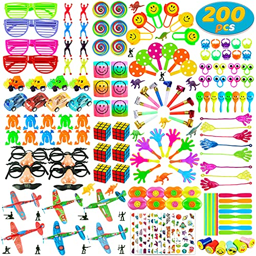 200 PCS Party Favors Toy Assortment for Kids,Carnival Prizes and School Classroom...