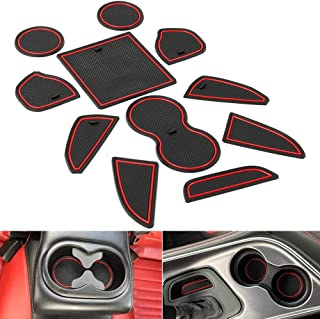 Non-Slip Anti-dust Custom Fit Cup, Door, Console Liner Accessories fit for Dodge Challenger 2015 2016 2017 2018 2019 11PC Set