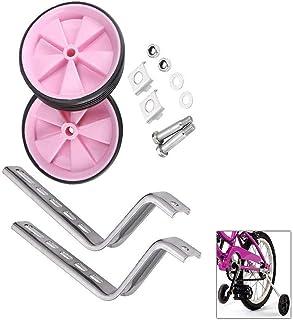 Knowing Niños Entrenamiento Ruedines, Bicicleta Estabilizador Ruedas, Estabilizadores Ruedas Ajustables, NiñOs Riding Equipment, Estabilizadores Niños en Bicicleta para 12-20 Pulgadas (Rosa)