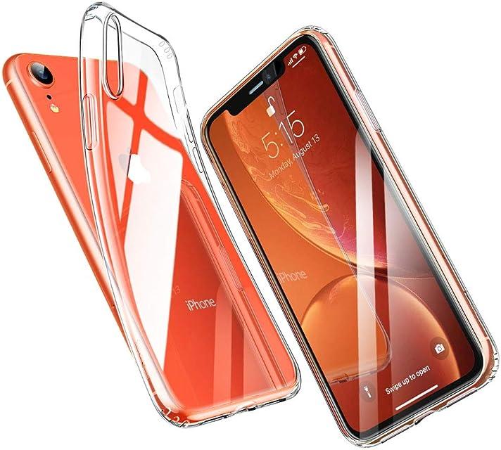 ESR Funda para iPhone XR Funda Suave TPU Gel Ultra Fina Protección a Bordes y Cámara Compatible con Carga Inalámbrica Enjaca para Apple iPhone XR de 6.1-Transparente