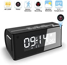 Hidden Camera, WAKYME 【Upgraded】 Spy Camera Clock, 1080P Wireless Hidden Cameras Speaker, Mini WiFi Camera Wireless Security Cameras with Night Vision for Home and Office, Surveillance Camera Full HD