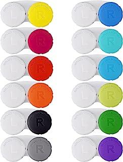 قاب لنز تماسی رنگی 12PCS ، کیت غوطه وری لنز تماسی ، بسته بندی ضد نفوذ ، مناسب برای مینی لنز تماسی کوچک در فضای باز