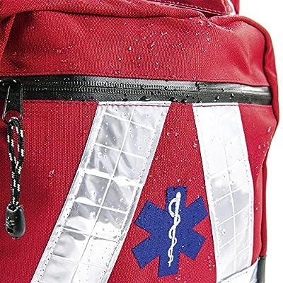 BMS Emergency Medical Rescue Backpack, rot, wasserdicht, 1 by Teqler