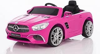 Wonderlanes 12V Ride On Mercedes Benz SL Class in Pink, Battery Powered Wheels