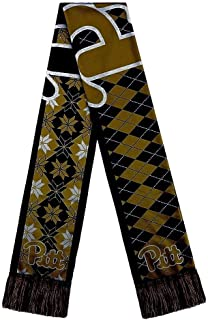 FOCO NCAA Pittsburgh Panthers Reversible Ugly ScarfReversible Ugly Scarf, Team Color, One Size
