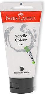 Faber-Castell PL187501 Acrylic Colour 75 ml, 044 Titanium White
