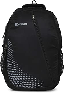 Impulse Waterproof Travelling Casual Backpack Series 30 litres Black Dancing Dot with Laptop Compartment