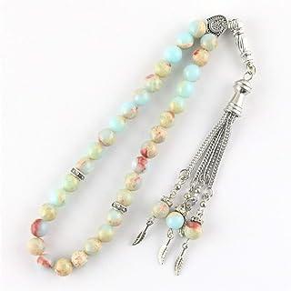 Muslims Rosary original Natural black agate stone Tesbih Islamic prayer beads Tasbih Muslim for prayer beads prayer 8mm be...