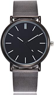 Hessimy Womens Fashion Watches New Ladies Business Bracelet Classic Luxury Watch Unisex Sport Casual Simple Stainless Steel Retro Analog Quartz Wrist Watches for Women On Sale