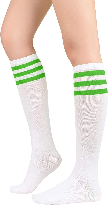 Womens Casual Tube Thigh High Socks for Girls Over Knee High Socks Long Striped Sock for Cosplay