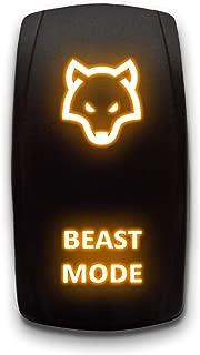 CUSTOM ROCKER SWITCH - DESIGN YOUR OWN - STARK 5-PIN Laser Etched LED Rocker Switch Dual Light - 20A 12V ON/OFF (Orange)