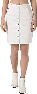 PepTrends Women's Buttoned Denim Skirt