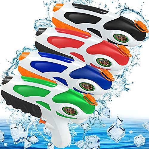 Wasserpistole für Kinder Wasserspielzeug Pool Outdoor Garten 4er Wasser Pistole Klein Mini Water Gun Strandspielzeug Sommer Spielzeug für Jungen Mädchen ab 3 Jahr Alt