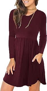 Women's Long Sleeve T Shirt Dresses Casual Swing Dress...