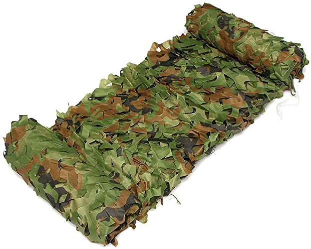 Ljdgr Filet Camo Visière Extérieure GR Filet de Camouflage pour abri armée de tir à la Caravane de Camping (Taille  3x6M) Armée Camo Filet (Taille   8x8m)