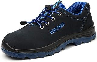 VOLKLAND Men Steel Toe Work Shoe Puncture Proof Footwear