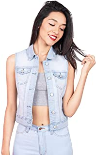 3278a12a3d Wax Denim Women s Classic Denim Vest w Flip Pockets