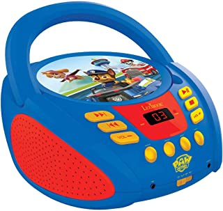 Lexibook Paw Patrol CD Player, aux-in Jack, AC or Battery-Operated, Blue/Red, RCD108PA, Norme