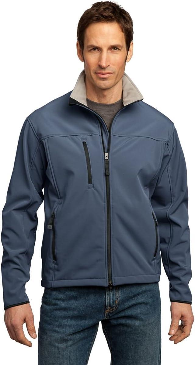 Port Authority Glacier Soft Shell Jacket, Atlantic Blue and Chrome, L