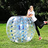 Inflatable Bumper Balls for Adults/Kids, Bumper Soccer Ball 5 FT(1.5M), Human Hamster Ball, Zorb Soccer (Blue Dot x 1, 5 FT)