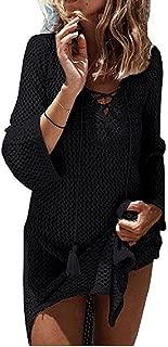 Women's Fashion Swimwear Crochet Tunic Cover Up/Beach Dress