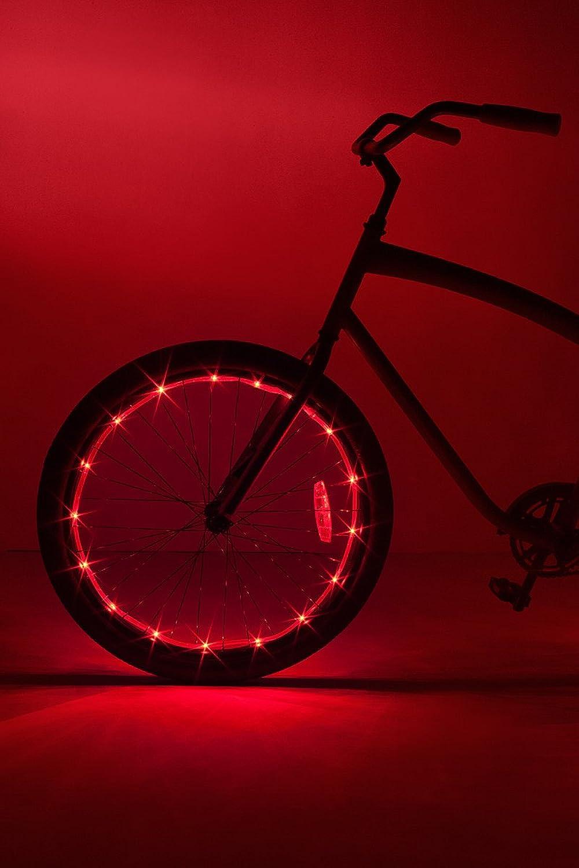 Brightz WheelBrightz LED Bicycle Wheel Accessory Light (for 1 Wheel), Red