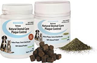 Vetnex Natural Dental Care Plaque Control Combo-Pack for Dogs & Cats (Powder+Chew) 2x100g