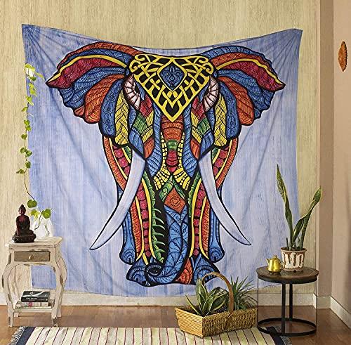 Alittle tapicería hecha a mano Multi Elefante Frente Elefante Tapices Colgando Mano Cepillo de Mano Tapices Cotton Wall Manta Hippie Indian Decor Boho Tapicería