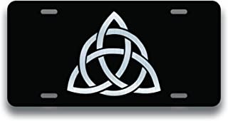 JMM Industries Triquetra Knot Vanity Novelty License Plate Tag Metal Car Truck 6-Inches by 12-Inches Etched Metal UV Resistant ELP125