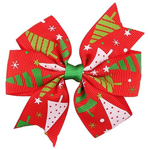 LEXUPE Baby-Weihnachtsverzierungen Bowknot-Haarnadel-Kopfschmuck(B,Free Size)