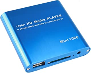 AGPtEK Mini 1080P Full HD Digital Media Player - MKV/ RM-SD/ USB HDD-HDMI