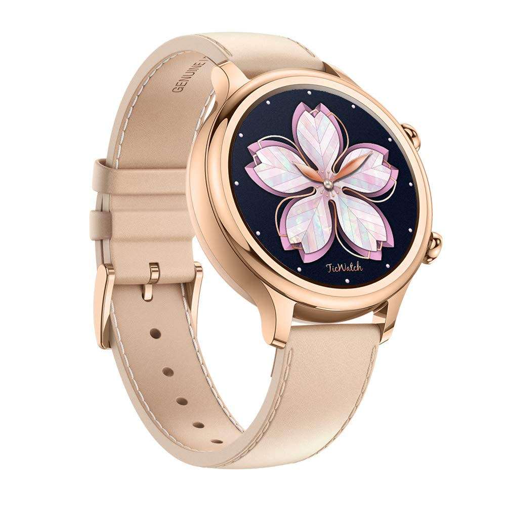 TicWatch C2 Fitness Smart Watch Classic Fashion Design with All Day Heart Rate Monitor, Built-in GPS, NFC Payment, Notifications and Alert, Compatible with Android and iOS ( Rose Gold)