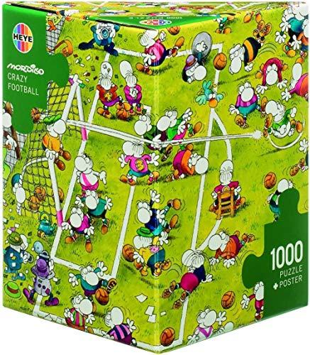 DINGQING Heye- Puzzle Mordillo Crazy Football1000 PiezasMulticolor29091