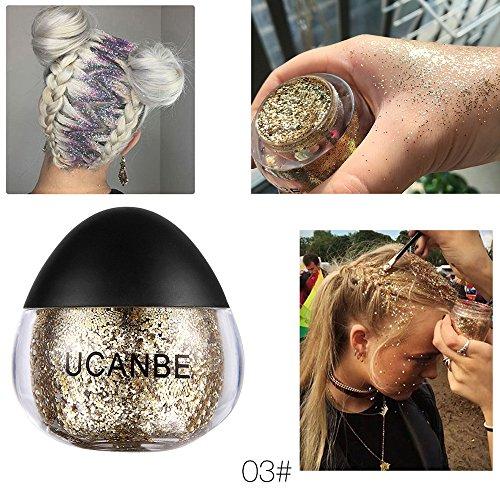 Momoxi Lidschatten,Augen Make-up Augenbrauenstift Makeup Glitter Lidschatten Shimmer Pigment Loose Puder Beauty Makeup Lidschatten