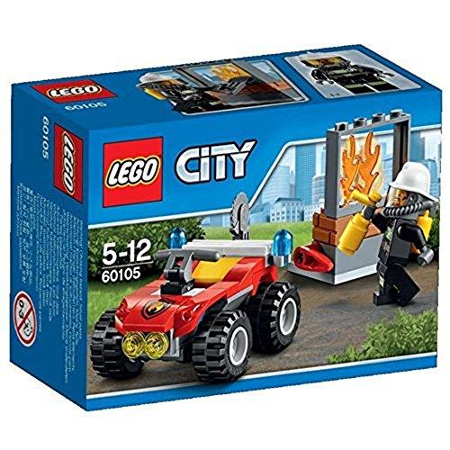 LEGO - 60105 - City - Jeu de Construction - Le 4 X 4 des Pompiers