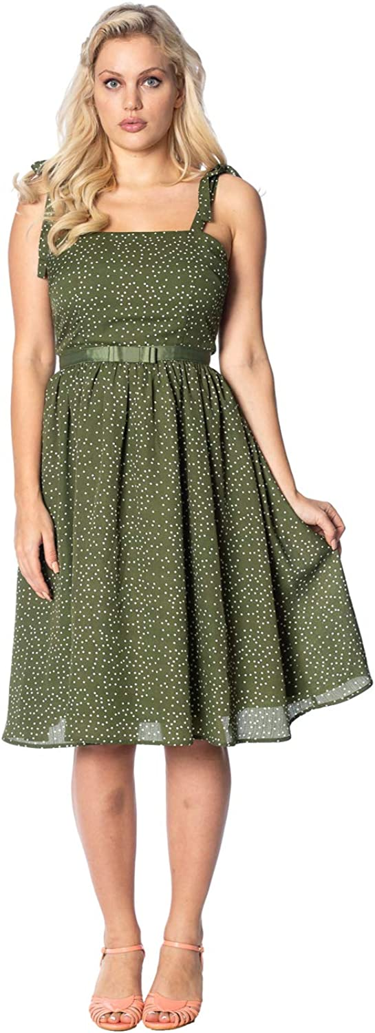 Dancing Days Sweet Spot Vintage Retro Dress  Green or White